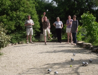 Boules pitch at our holiday gite with pool, latest news, Poitou Charentes, france