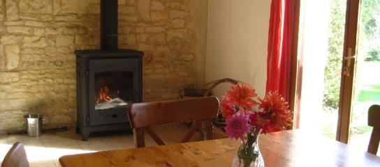 La Grange Gite Woodburner in our holiday cottage