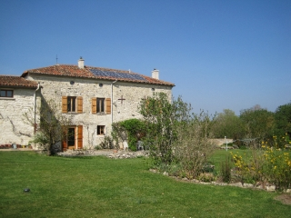 solar panels & ecotourism at les Hiboux Holiday rental farmhouse and gite